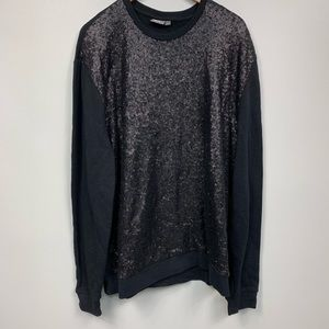 ASOS | Black Sequin Sweater Dress | Size XXL